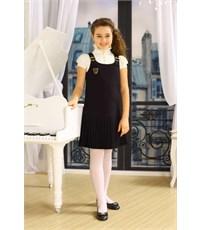 Сарафан черный Маленькая леди с заниж. талия и плиссированной юбкой