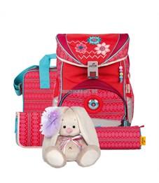 Школьный ранец DerDieDas Ergoflex Цветы с наполнением