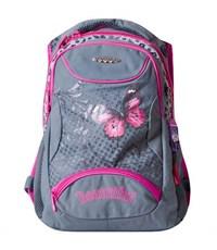 Школьный рюкзак Across G15-7 серый-розовый