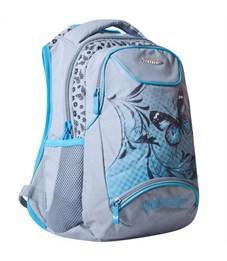 Школьный рюкзак Across G15-7 серый-голубой