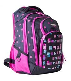 Школьный рюкзак Across G15-8 черный-розовый