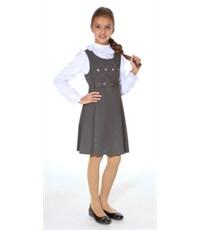 Школьный сарафан Смена Д24 серый
