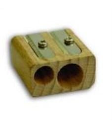 Точилка INDEX двойная прямоугольная деревянная