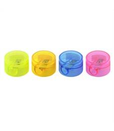 Точилка пластиковая Fancy круглая с контейнером