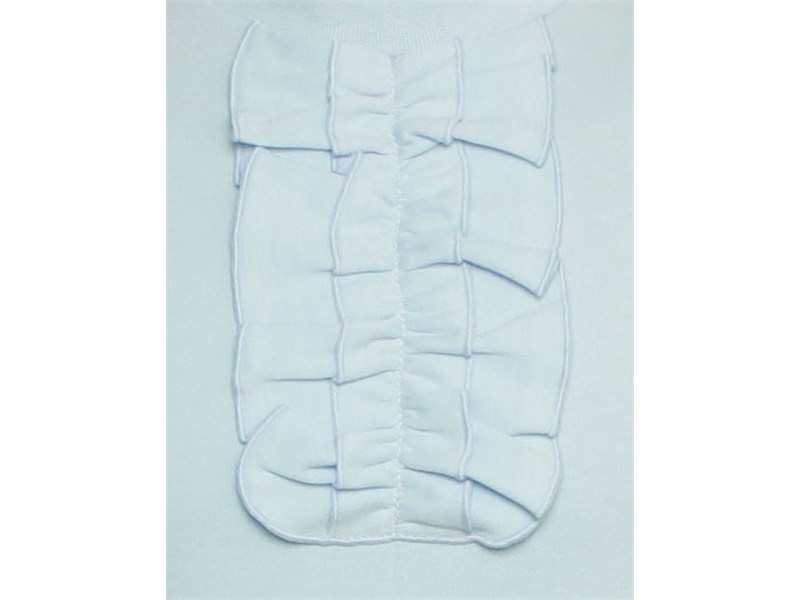 Трикотажная кофточка Снег голубая с низким воротником