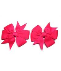 Заколка для волос Бантик ярко-розовый - 2 штуки