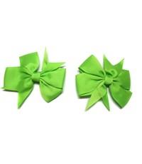 Заколка для волос Бантик зеленый - 2 штуки