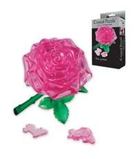 3D пазл Crystal Puzzle Роза розовая