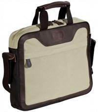 Фото 2. Сумка для бизнеса через плечо Quer Slim Q21 серая  кожа+текстиль