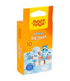 """Набор белого мела Мульти-Пульти """"Енот на Северном полюсе"""", круглый, 10шт., картон. коробка, европод."""