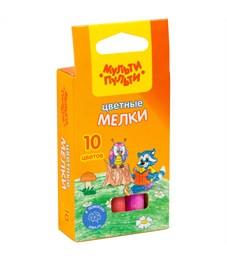 "Набор цветного мела Мульти-Пульти ""Енот на опушке леса"", круглый, 10цв., картон. коробка, европод."