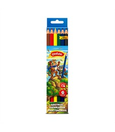 Набор цветных карандашей Creativiki  6 цв. шестигранные пластиковые