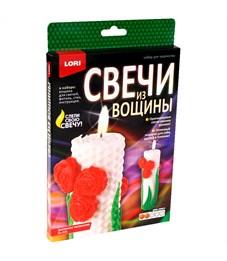 """Набор для изготовления свечей Lori """"Свечи из вощины. Цветочное настроение"""", картонная коробка"""