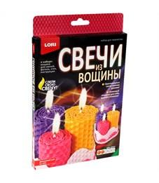 """Набор для изготовления свечей Lori """"Свечи из вощины. Домашний уют"""", картонная коробка"""