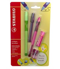 Набор для обучения письму Stabilo Left Right  для левшей, розовый 6318/41-5В