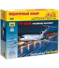 "Набор для сборки модели Звезда ""Пассажирский авиалайнер Ту-154"", масштаб 1:144"