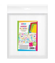 Набор обложек (10шт.) 210*350 для дневников и тетрадей, ArtSpace, ПЭ 60мкм