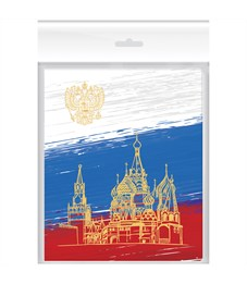 """Набор обложек (3шт.) 210*350 для днев. и тетр., ArtSpace, ПВХ 120 мкм, """"Российский школьник"""", накл."""