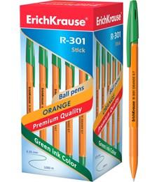 Шариковая ручка Erich Krause R-301 ORANGE 0.7 Stick, зеленый