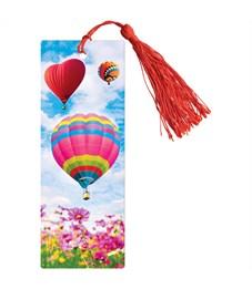 """Закладка для книг 3D с линейкой, 150*55мм, ArtSpace """"Воздушные шары"""", декоративный шнурок"""