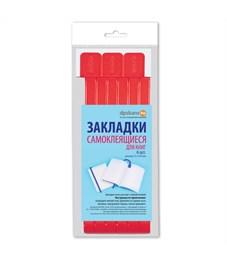 Закладки для книг самоклящиеся, 12*376мм, ДПС, 06шт., красный