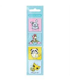 """Закладки магнитные для книг 35*35мм, 4шт., ArtSpace """"Cute animals"""""""