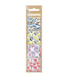 """Закладки магнитные для книг 35*35мм, 4шт., ArtSpace """"Flowers"""""""