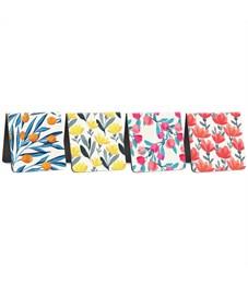"""Фото 2. Закладки магнитные для книг 35*35мм, 4шт., ArtSpace """"Flowers"""""""