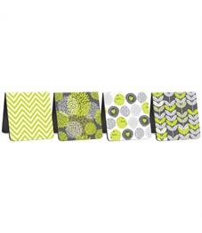"""Фото 2. Закладки магнитные для книг 35*35мм, 4шт., ArtSpace """"Lime & Grey"""""""