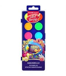 """Акварель ArtBerry """"Neon"""", 12 цветов, без кисти, неоновая, с УФ защитой яркости, пластик, европодвес"""