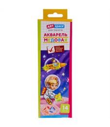 """Акварель ArtSpace """"Космонавты"""", медовая, 14 цветов, без кисти, картон, европодвес"""