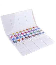 Фото 2. Акварель Белые ночи, художественная, 36 цветов, кюветы, пластик, палитра