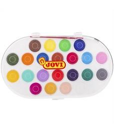 Акварель JOVI, 22 цвета, большие кюветы, с кистью, пластик