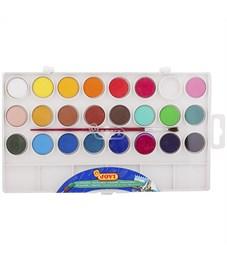 Акварель JOVI, 24 цвета, малые кюветы, с кистью, с палитрой, пластик, европодвес