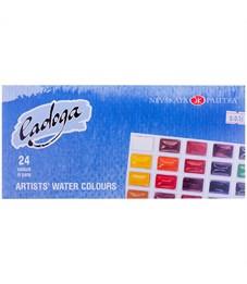 Фото 1. Акварель Ладога, художественная, 24 цвета, кюветы, картон