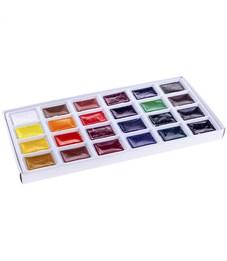 Фото 2. Акварель Ладога, художественная, 24 цвета, кюветы, картон