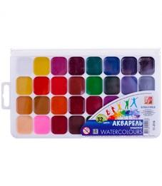 """Акварель Луч """"Классика"""", медовая, 32 цвета, без кисти, пластик, европодвес"""