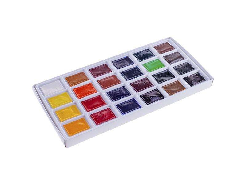 """Акварель ЗХК """"Сонет"""", художественная, 24 цвета, кювет, картон"""
