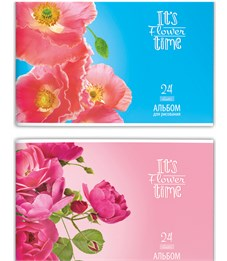 Альбом для рисования 24 л. Нежные цветы SchoolФОРМАТ