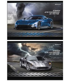 Альбом для рисования 40 л. А4  Спортивные машины