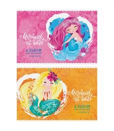"""Фото 1. Альбом для рисования 08л., А4, на скрепке ArtSpace """"Русалки. Mermaid at heart"""", обложка-офсет"""