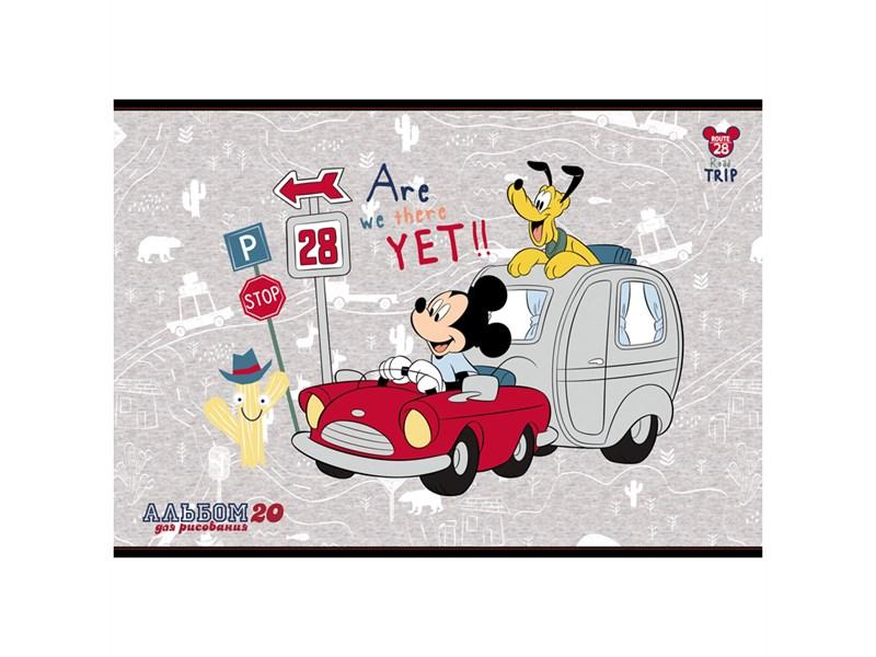 """Альбом для рисования 20л., А4, на скрепке Hatber """"Disney. Микки Маус"""""""
