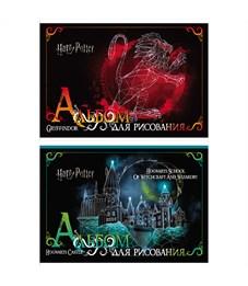 """Альбом для рисования 20л., А4, на скрепке Hatber """"Гарри Поттер"""""""