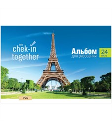 """Альбом для рисования 24л., А4, на гребне ArtSpace """"Путешествия. Check-in together"""""""