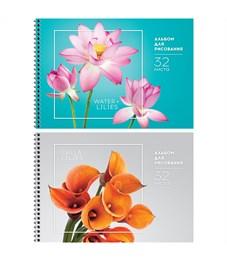 """Альбом для рисования 32л., А4, на гребне ArtSpace """"Цветы. Стильные букеты"""", твин-лак"""