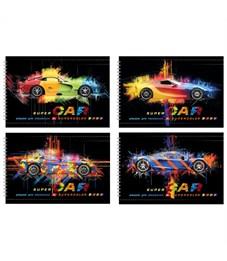 """Альбом для рисования 32л., А4, на гребне BG """"Super car"""", эконом"""