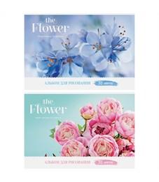 "Альбом для рисования 32л., А4, на скрепке ArtSpace ""Цветы. The flower"", глянцевый лак"