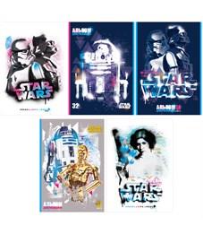 """Альбом для рисования 32л., А4, на скрепке Hatber """"Lucas-Star Wars. Звездные войны"""""""