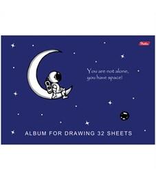 """Альбом для рисования 32л., А4, на скрепке Hatber """"Вселенная"""", матовая ламинация, УФ-лак"""