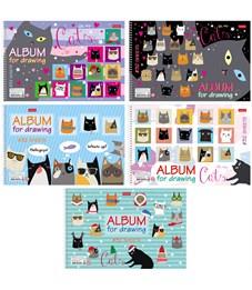 """Альбом для рисования 32л., А4, на спирали Hatber """"CATs"""", перфорация на отрыв"""